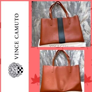 Extra large leather Vince camuto tote